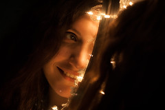 (stars`bread) Tags: portrait people woman girl lights donna femme luci fille ritratto ragazza canoneos1000d