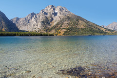 Leigh Lake (bhophotos) Tags: travel autumn usa lake mountains nature water landscape geotagged nikon valley wyoming tetons jacksonhole grandtetonnationalpark gtnp leighlake d700 24120mmf4gvrii