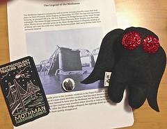 The Legend of the Mothman (kiddomerriweather) Tags: craft felt plush story softie westvirginia swap button plushie patch legend myth mothman pinback cryptozoology pointpleasant stuffie cryptid swapbot
