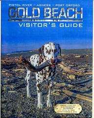 The final product, Cromwell now a Cover Dog. (Lance & Cromwell back from a Road Trip) Tags: dog published dalmatian cromwell 2014 goldbeachvisitorsguide currycountyreporter