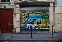 Chanoir & Yop (lepublicnme) Tags: paris france graffiti march shutter 1980 yop chanoir 2014