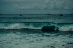 Wave 2 (joshmonk) Tags: ocean trip blue sea vacation sky people usa storm weather clouds boats outdoors 50mm hawaii coast spring nikon rocks surf waves unitedstates ships windy overcast northamerica nikkor 2014 choppy d7000 f18g f18g50mm
