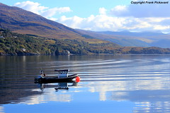 Little Boat on Loch Broom (Lord Skully) Tags: rossandcromarty westerross rossshire westhighlands westcoast scotland boat watercraft lake water reflections clouds sky mountainside mountain mountains mirrorimage fender watercourse trees saltwater october 2016 autumn frankpickavant outdoors outdoor coastal coast scenery skotland schottland scozia escocia ecosse britishisles britain unitedkingdom uk unspoilt naturalbeauty canoneos waterway europe daytime day daylight bluesky alba hills hillside ripples north tranquil peaceful colour