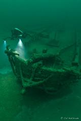 Great Lakes shipwreck unknown schooner (calkothrade2) Tags: diver diving lakeontario underwater technical scuba deep ontario schooner