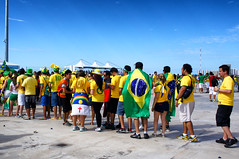 The Queue (Arimm) Tags: arimm stadium venue fans football flag brasil
