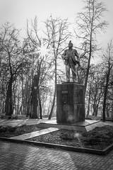 Lenin (Unicorn.mod) Tags: 2017 monument memorial bw monochrome spring april outdoor landsape cityscape sunlight manual manuallens canoneos6d canon samyang35mmf14asumc samyangmf35mmf14edasumcae samyang