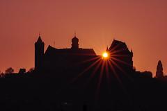 Sonnenaufgang über der Veste Coburg (Heikenwälder Fotografie) Tags: sonnenaufgang coburg franken veste burg fränkische krone sony a6500 tamron 70300mm