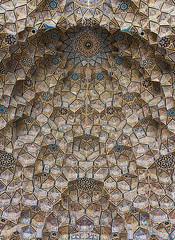 Nasir al-Mulk Mosque ceiling (Wild Chroma) Tags: nasir almulk mosque nasiralmulkmosque pink pinkmosque ceiling mosaic interior shiraz iran persia