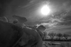 """Icescape"" (Patrice StG) Tags: bw nb noiretblanc blackandwhite sony a7ii printemps spring rivage shore soleil sun nikkor1835g 1835mmf3545g ice glace fleuvestlaurent fleuve stlawrence stlaurent stlawrenceriver gimp"