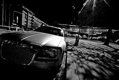 Night in the city (tomlok) Tags: nacht night chrysler city stadt schwarzweis blackwhite