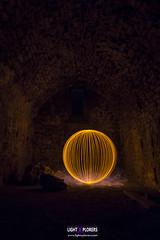 Golden Sphere 2 (MrDaVidU) Tags: nikon d7100 nocturna lightpainting esfera sphere orb orbe samyang samyang14mm ermita