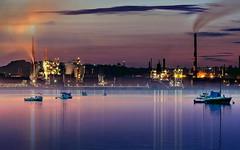 Notte (Zz manipulation) Tags: art ambrosioni zzmaqnipulation nigth notte city sea mare sera boat barche