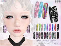 [ bubble ] Hoop Earrings Set V2 (::: insanya ::: & [ bubble ]) Tags: secondlife bubble originalmesh accessories earrings hoops colors mesh hud exclusive thethriftshop discounted
