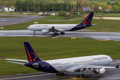 Brussels Airlines A330 from the tower of BRU (Simon Van Assche Photography) Tags: bru bel a330 aviation airport avion avgeek avporn aircraft airlines air airbus exterieur exposition ebbr europe europa brussels plane piste picture spotters spotter spotting spott spot