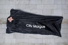 Day 3711 (evaxebra) Tags: morgue bag body peeking enclosed inside black dead death wh wah
