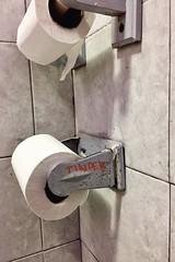 modern love (drain__you) Tags: tinder bathroom toiletpaper philly philadelphia