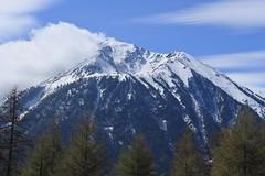 le beau Catogne (bulbocode909) Tags: valais suisse nature montagnes printemps mélèzes arbres nuages ciel montchemin coldesplanches bleu vert catogne