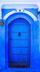Chefchaouen, Blue City (Morocco) (hacenem) Tags: kasbah blue door morocco chefchaouen