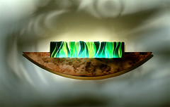 Fused glass wall light 1 (RDW Glass) Tags: fusedglass stainedglass wall wallhanging light lightbox lighting interior design green emerald forest bespoke rdwglass glasgow scotland