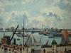 PISSARRO Camille,1903 - L'Anse des Pilotes, Le Havre, Matin, Soleil, Marée montante (Le Havre) - Détail 03