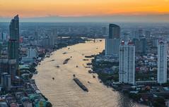4Y1A1142 (Ninara) Tags: bangkok thailand sunset chaophraya river skyscraper bangrak lebua statetower