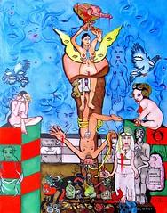 LE BÛCHER DE CHAMPEL (Claude Bolduc) Tags: artsingulier outsiderart tarot visionaryart intuitiveart lowbrow artbrut surrealism