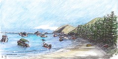 Lord Howe Island - Easter 2017 (panda1.grafix) Tags: lordhoweisland landscapesketch seascape lagoon penandwash