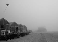 more foggy days (Georgie Pauwels) Tags: beach fog mist weather northsea foggy fujifilm candid blackandwhite