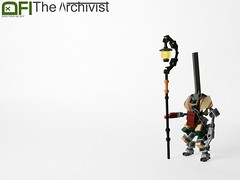 The Archivist (Dead Frog inc.) Tags: lego drone bot robot lamp lantern