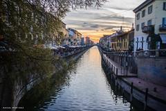 Canal barrio de navigli, Milán (rafamartinezrodriguez) Tags: sunset puestadesol canales navigli milano milán italy italia