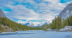 Goodbye winter (Tony_Brasier) Tags: nikond7200 mountains raw river rocks sky sun stones 16mm85mm canada christmastrees baff hdr