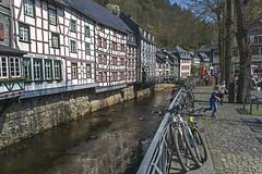 Monschau. Germany (Zinaida Belaniuk) Tags: monschau germany 2017 canal spring town