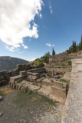 """Delphi, The sacred way, II - Sikyonians & Siphnians Treasuries (egisto.sani) Tags: """"archaic period"""" arcaico periodo treasury tesoro building edificio """" siphnian treasury"""" """"tesoro dei sinfi"""" """"sikyonians' sicioni"""" phocis focide delphi delfi """"archaeological museum"""" """"museo archeologico"""""""