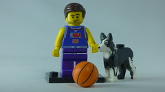 Brick Yourself Custom Lego Figure Basaketballer & Dog
