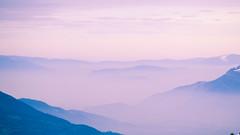 Brumes... (Mare Crisium) Tags: brume smog mist brouillard fog mountain montagne vallée valley clouds nuages nature crete creat chartreuse white blanc mauve light high haut altitude