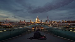Room with a view (Gary Sanders Photography) Tags: architecture landscape street cityatnight night homelessman stpaulscathedral thamesembankment milleniumbridge dusk twighlight londonstreetphotography uk nikond750 samyang24mm