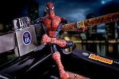 Spiderman (Giuseppe Vitali) Tags: strobist yongnuo sony a6000 spiderman night softbox hb habanos cohiba