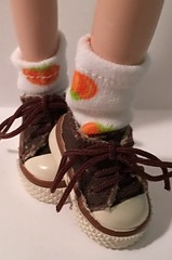 Short Pumpkin Patch Socks For Blythe...