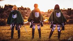 Survey Corps (WorldXPhotography) Tags: snk shingeki no kyojin eren jäger mikasa ackermann armin swords epic team attack titan slayer