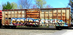 goreb - soner (timetomakethepasta) Tags: goreb soner kcs boxcar rusted freight train graffiti art benching selkirk new york photography a2m gtb
