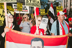 Anti-war protest in response to American strike on Syrian air base (megadill) Tags: protest missile donald trump american americans protesters tomahawk syria syrian syrians los angeles california america la war anti