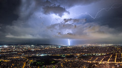 Atenas (impodi@gmail.com) Tags: atenas tormenta rayos noche nocturnas largaexposicion licabeto grecia athens lightningcomposite strorm nature nikon nubes clouds landscape sky cielo panoramica