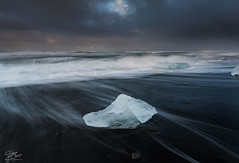 Black Ice (Steve Clasper) Tags: jökulsárlón iceland ice icebergs beach black sand steveclasper coast coastal south