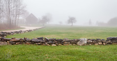 Stone Fence With Fog (Me in ME) Tags: harpswell maine fog stonefence