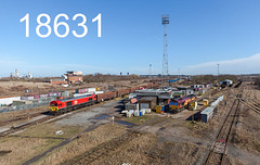 robfrance5d2_18631_080317_x66128_tees_yard_6v66_dbs_edr16lr6pse15weblowres (RF_1) Tags: 2017 66 66116 britain class66 cleveland db dbcargo dbschenker dbc dbs deutschebahn diesel electromotive emd england englishwelshscottish englishwelshandscottish ews freight generalmotors gm haulage hauling iron lip loco locomotive locomotiveinspectionpoint locomotivemaintenence locomotives middlesborogh ore railfreight railway railways steel tata teesside teesyard teeside tipplers train trains transport uk unitedkingdom