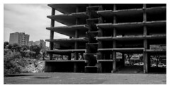 Maputo, Mozambique. (tonywright617) Tags: building maputo mozambique africa fujica g617 panoramic ilford hp5 iso400 120 film analogue bw monchrome cropped