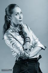 Viktoria I (FrameChaser) Tags: fashion bw sw woman female model portrait splittoning studio edited