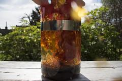 Tea I (Pieter Wouters) Tags: pentax k3 continuousshooting liquid tea splashing color marble lavalamp