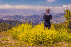 Anhelo (abel.maestro) Tags: yellow sky flowers girl beauty spring color flower clouds beautiful españa green spain andalusia amarillo naturaleza paisaje málaga