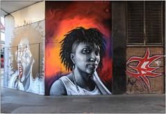 Two Heads (Mabacam) Tags: 2017 london croydon theartquarter streetart wallart urbanart publicart spraycanart aerosolart painting paint mural freehand graffiti urbanwall wall portrait carleendesözer dreph